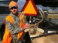 Matt Shumlas with prize deer